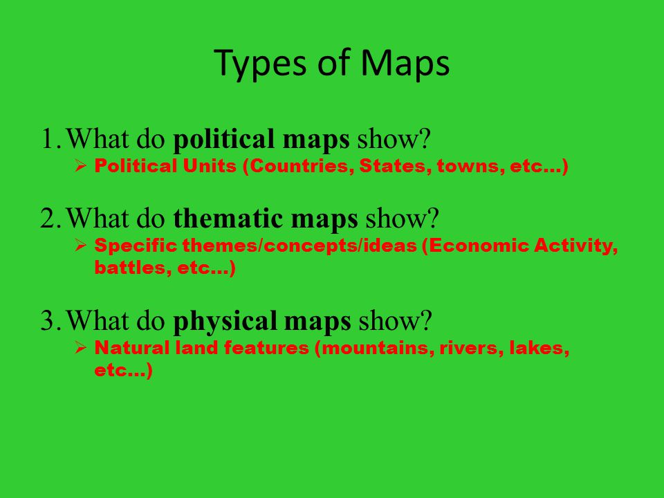 Part Five Themes Of Geography Ppt Download - What do thematic maps show us