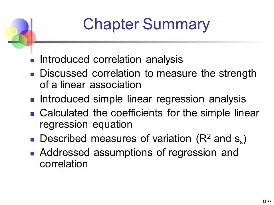 correlation and linear regression analysis mini project Regression goes beyond correlation by adding prediction capabilities people use regression on an intuitive level every day in the regression equation, y is always the dependent variable and x is always the independent variable here are three equivalent ways to mathematically describe a linear.