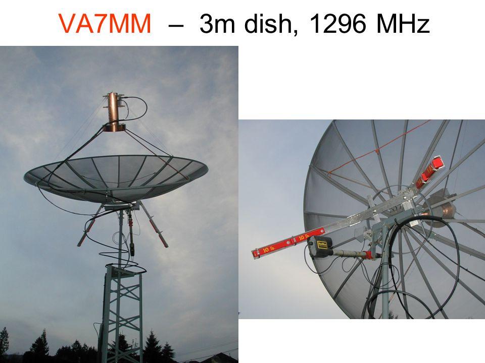 VA7MM – 3m dish, 1296 MHz