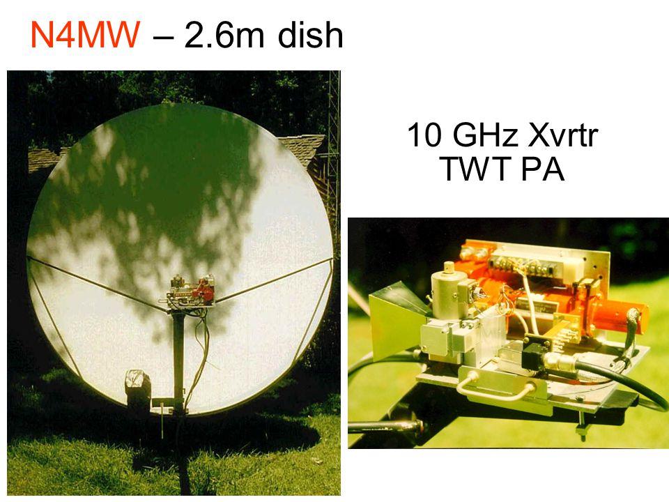 N4MW – 2.6m dish 10 GHz Xvrtr TWT PA