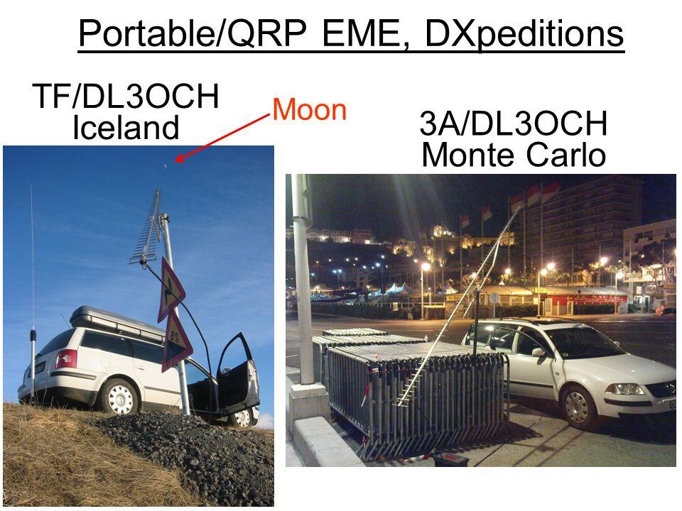 Portable/QRP EME, DXpeditions