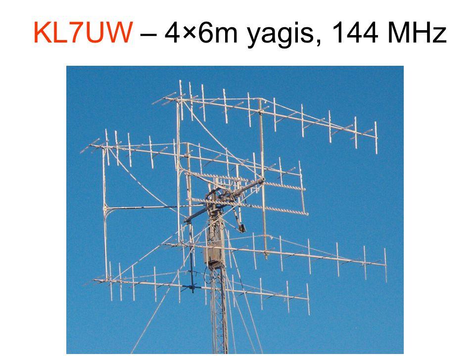 KL7UW – 4×6m yagis, 144 MHz