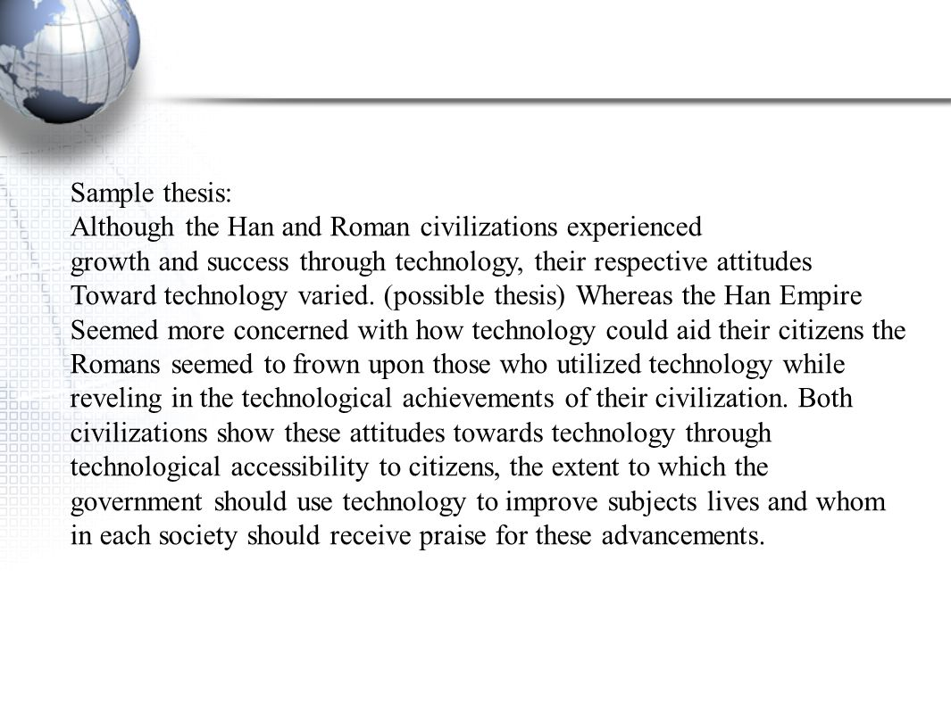 dbq comparing technology in han china History other essays: comparing classical athens and han china.