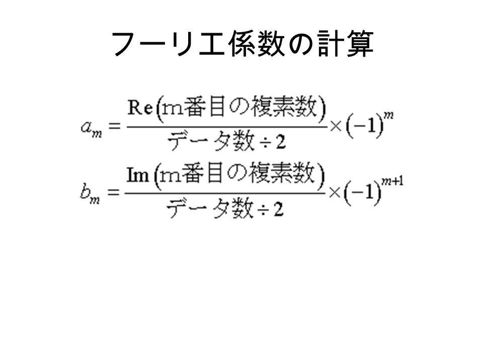 フーリエ係数の計算
