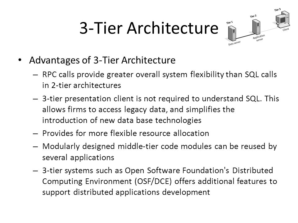 3-Tier Architecture Advantages of 3-Tier Architecture