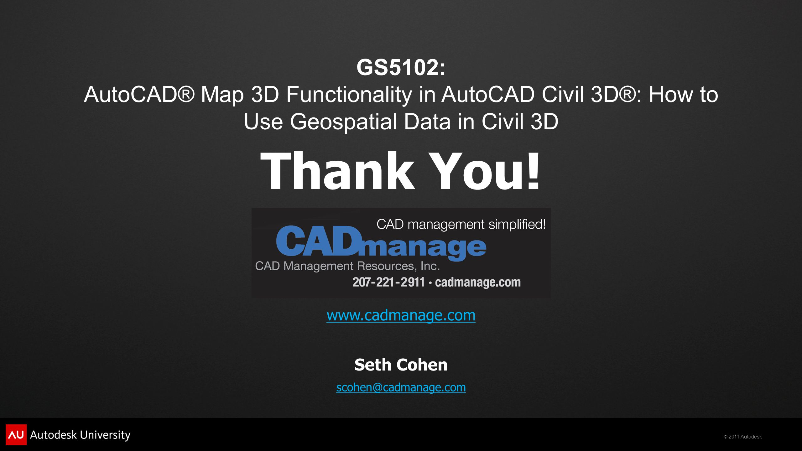 Gs5102: Autocad� Map 3d Functionality In Autocad Civil 3d�: How To Use