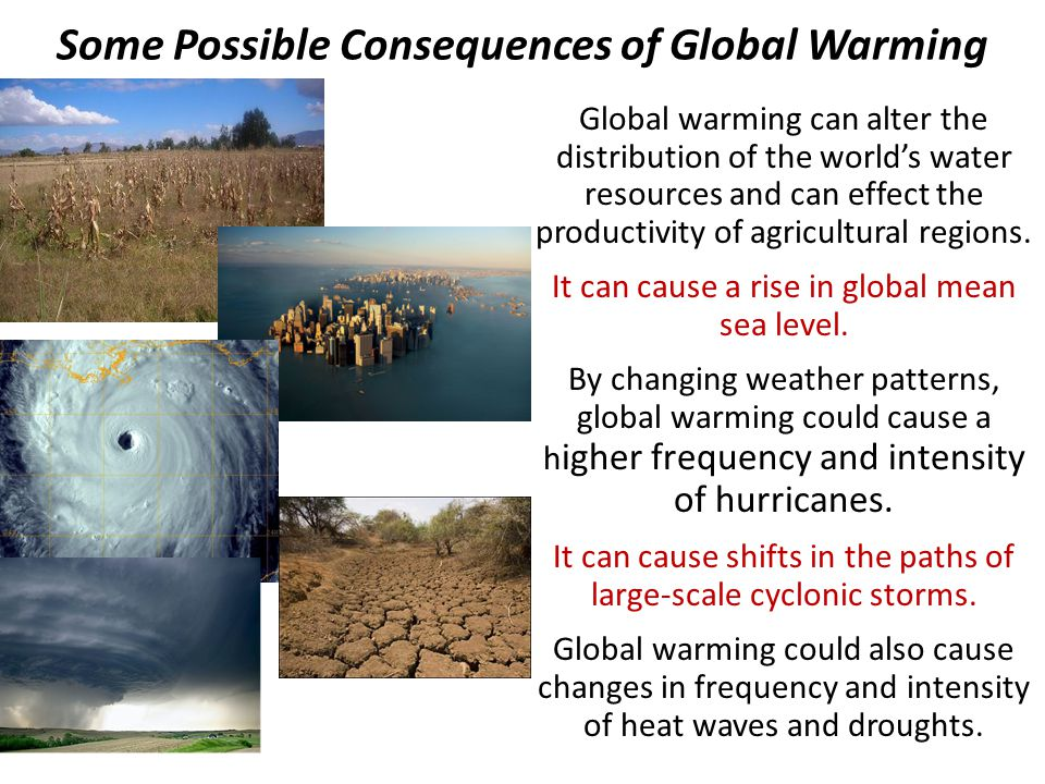 the effects of global warming on the world 11 the world's climate is changingon average, the temperature on the earth's surface has increased by 06°c (1°f) over the last two centuries 1 most of the warming observed in the past 50 years is attributed to human activities and particularly to the burning of fossil fuels.