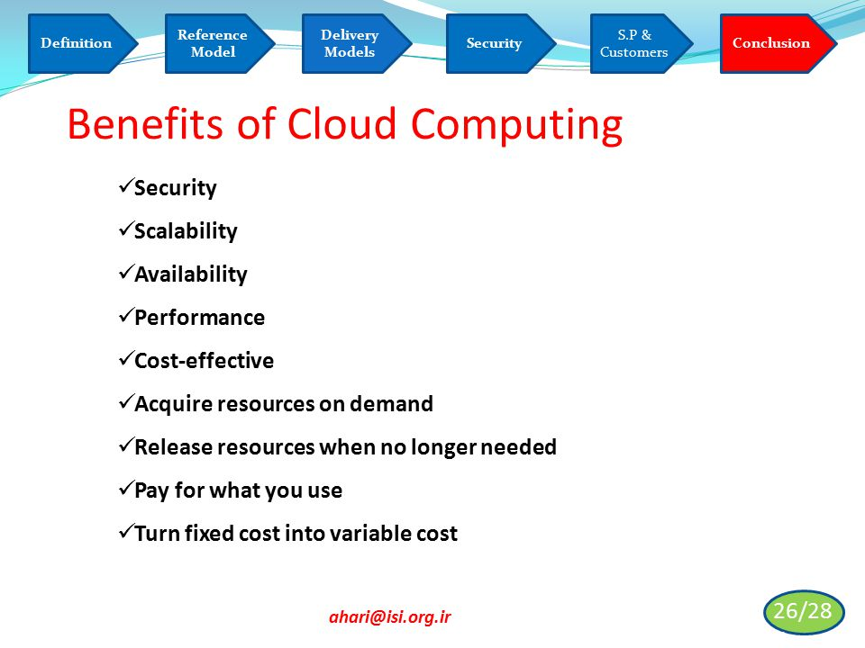 Informatics Society Of Iran Isi Cloud Computing
