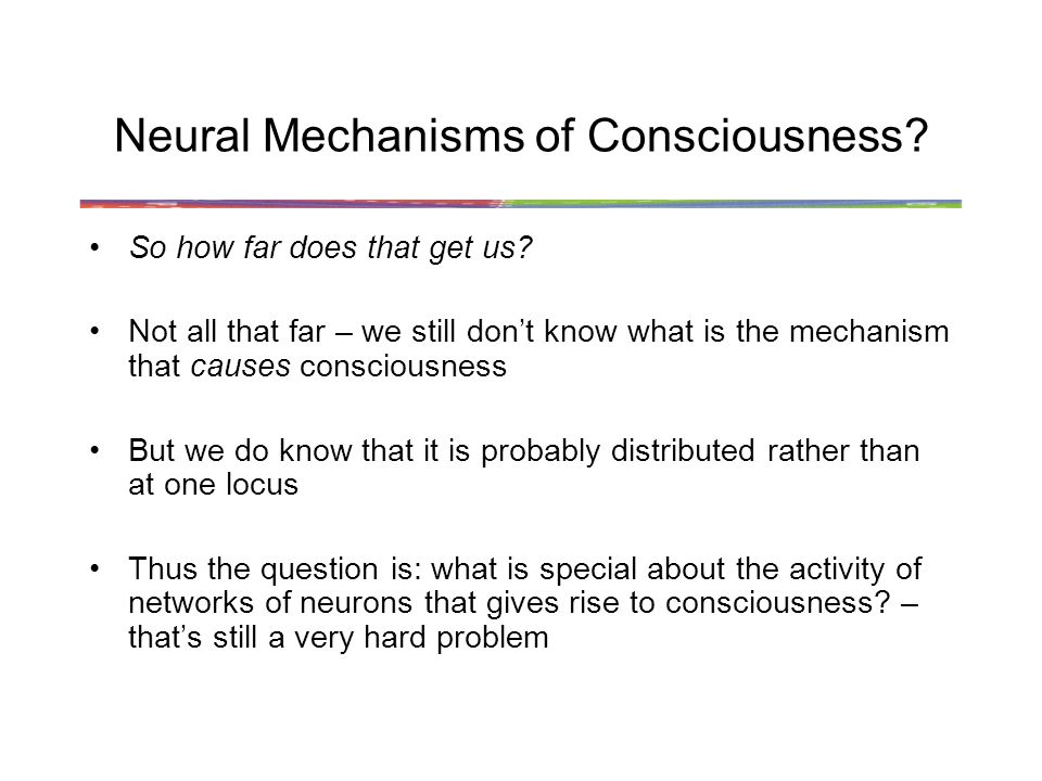 Neural Mechanisms of Consciousness
