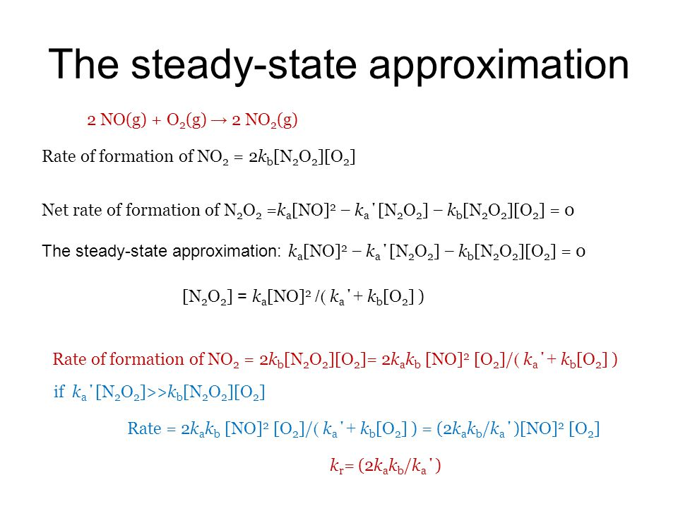 The steady-state approximation