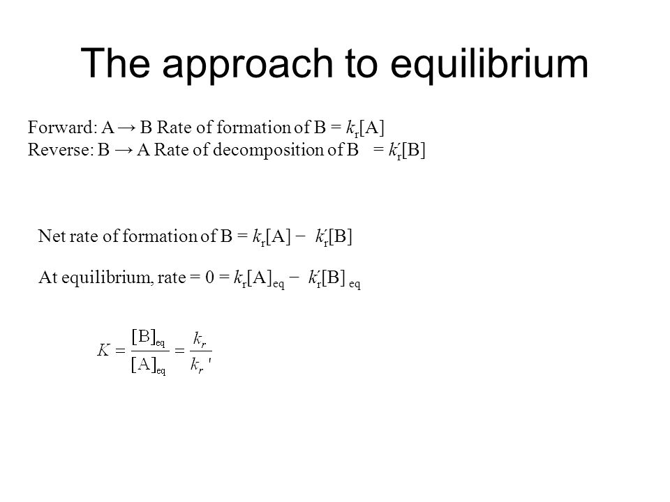 The approach to equilibrium