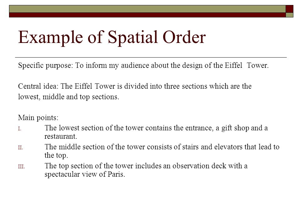 What is Spatial Order in Writing and How Can I Use it in My Essay?