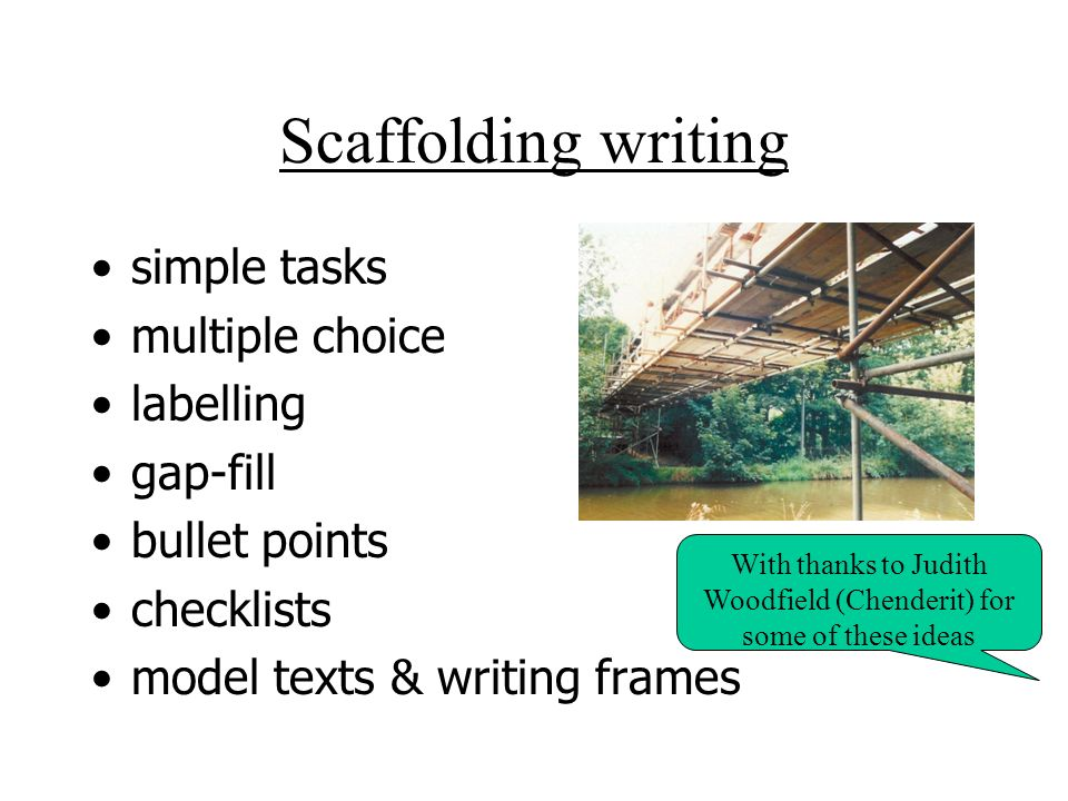 With thanks to Judith Woodfield (Chenderit) for some of these ideas