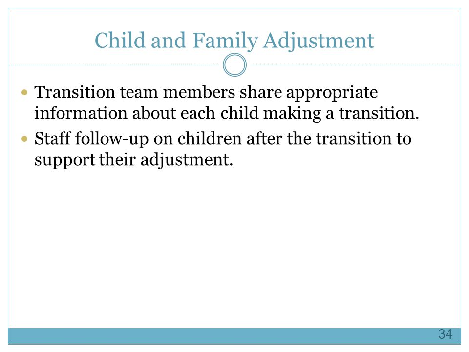Child and Family Adjustment