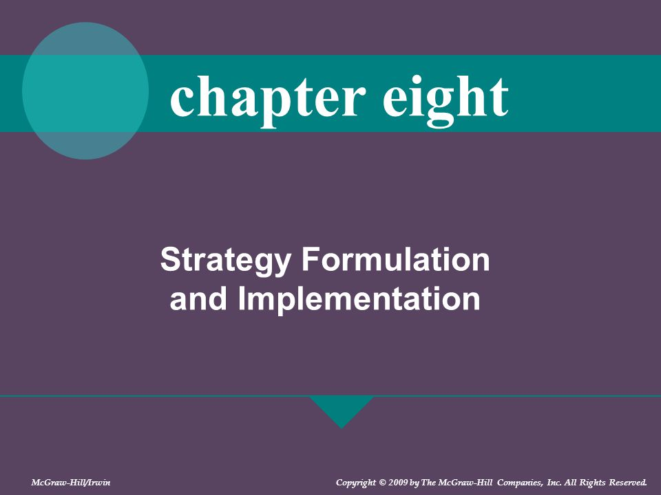strategy formulation implementation H: strategy formulation has a positive effect on strategy implementation strategy  formulation: strategy formulation refers to the assessment of the external and.
