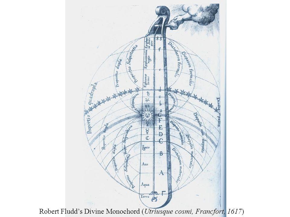 Robert Fludd's Divine Monochord (Utriusque cosmi, Francfort, 1617)