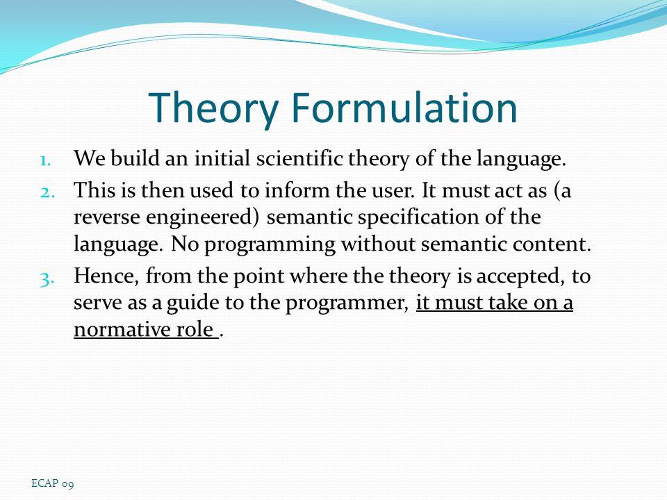 theory of programming languages pdf