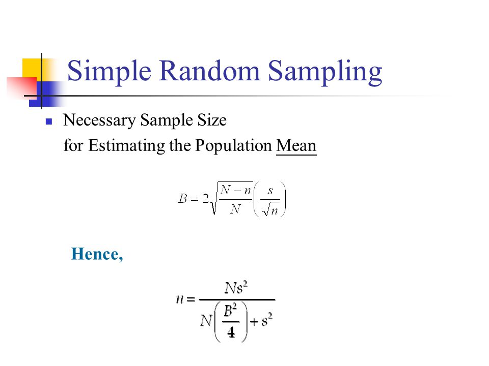 how to find the population mean in simple random sampling