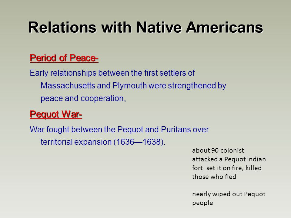 the relations between native americans and Interaction with natives  eventually this lead to many wars between the native american tribes work cited create a free website powered by.