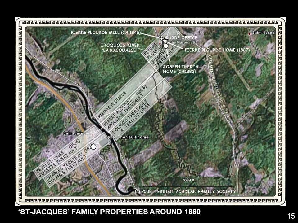 'ST-JACQUES' FAMILY PROPERTIES AROUND 1880