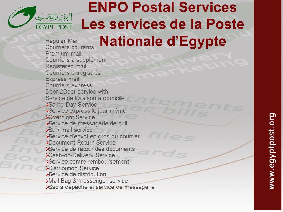 ENPO Postal Services Les services de la Poste Nationale d'Egypte