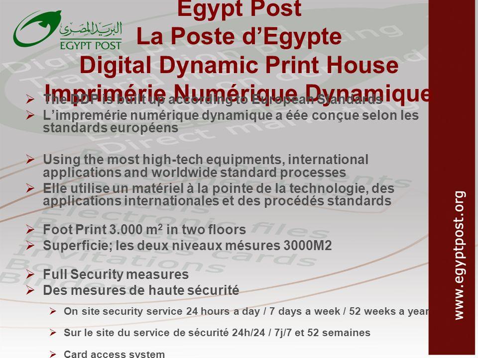 Egypt Post La Poste d'Egypte Digital Dynamic Print House Imprimérie Numérique Dynamique