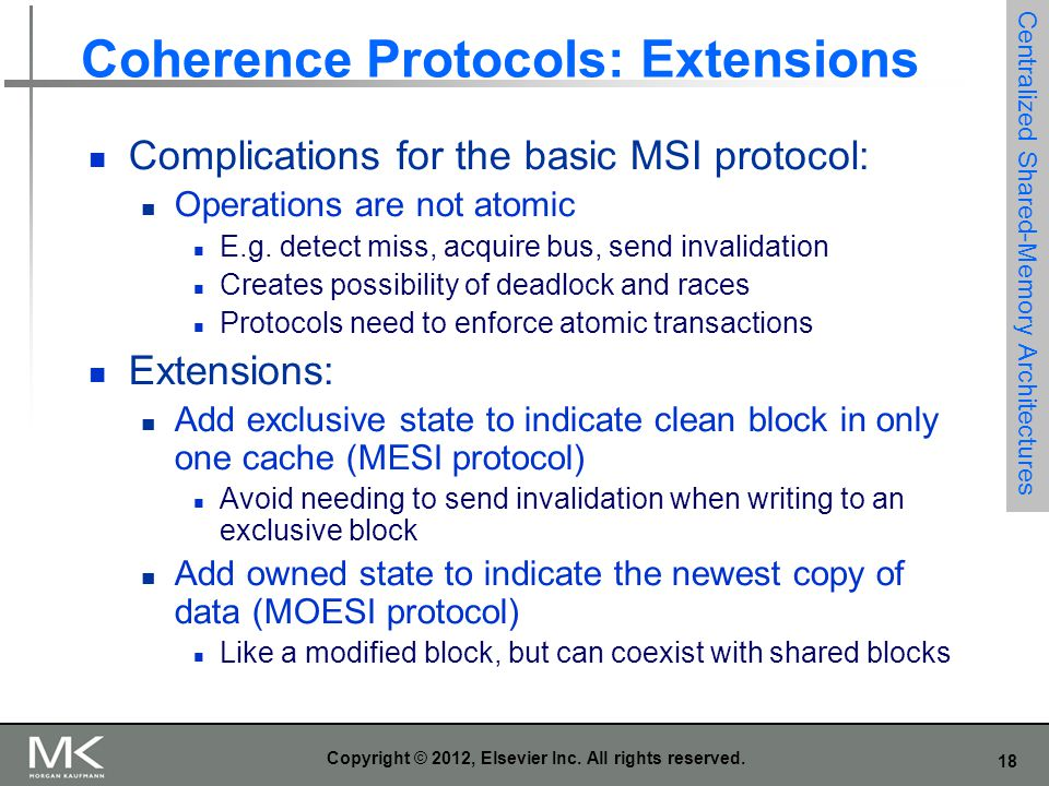Coherence Protocols: Extensions
