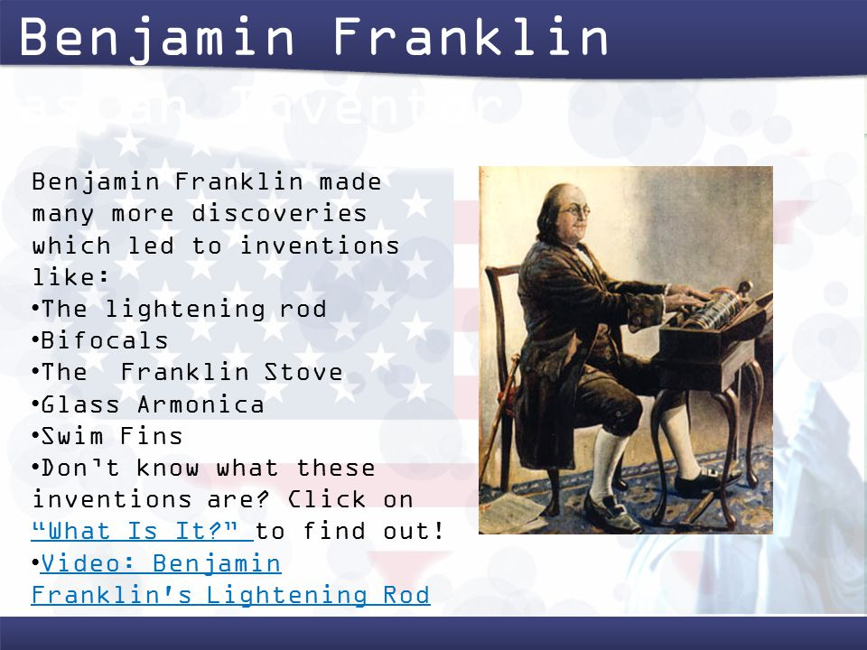 a biography of scientist and inventor benjamin franklin Inventions of benjamin franklin what did ben franklin invent why are they important to us today what would life be like without his inventions.