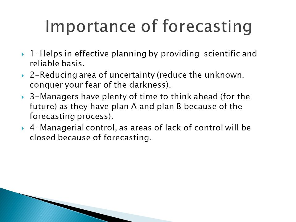 Importance of forecasting in business planning