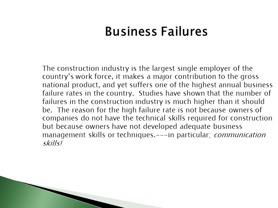 three major reasons a business fails The main causes of business is another major reason why business find themselves dealing with day to day problems and so fail to address these.