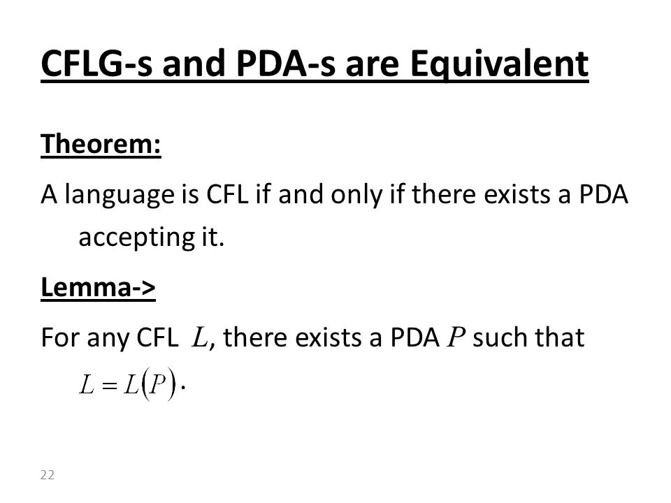 CFLG-s and PDA-s are Equivalent