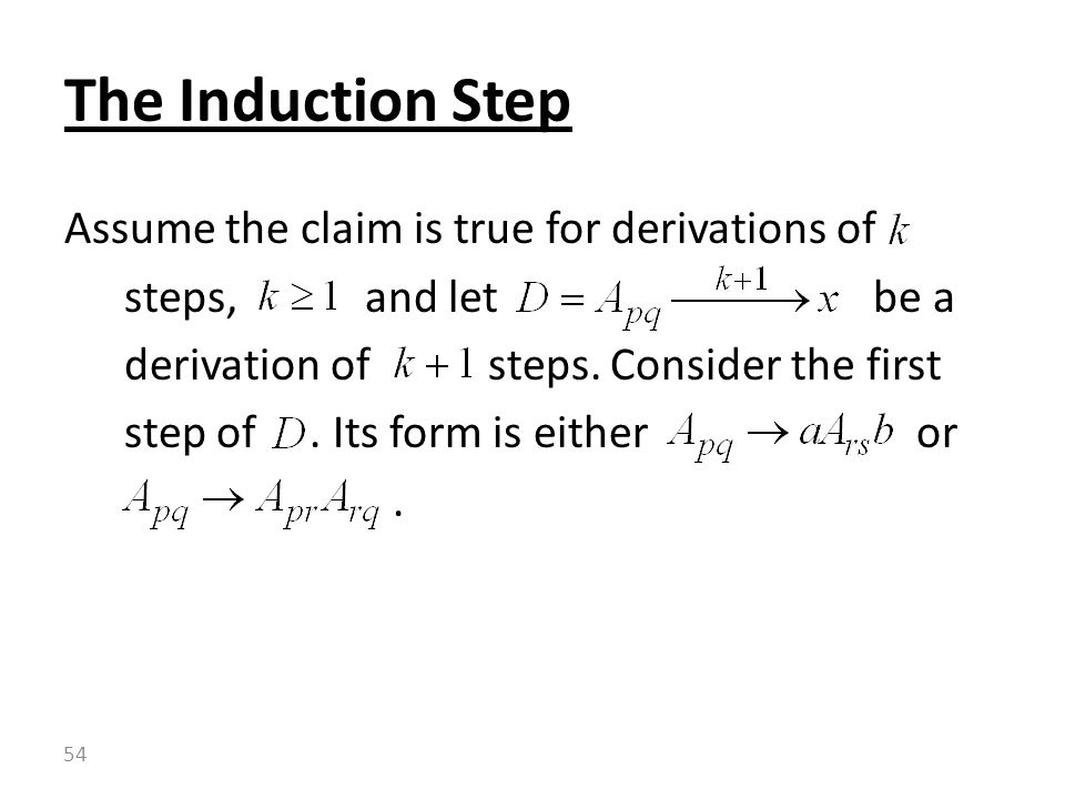 The Induction Step
