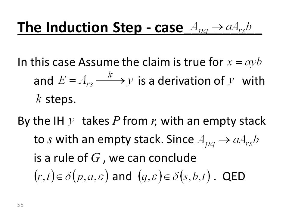 The Induction Step - case__________