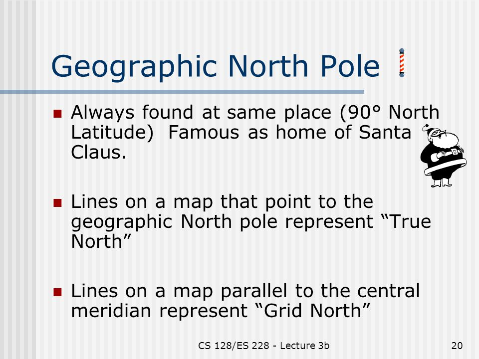 Coordinate systems projections ppt video online download geographic north pole always found at same place 90 north latitude famous as sciox Image collections