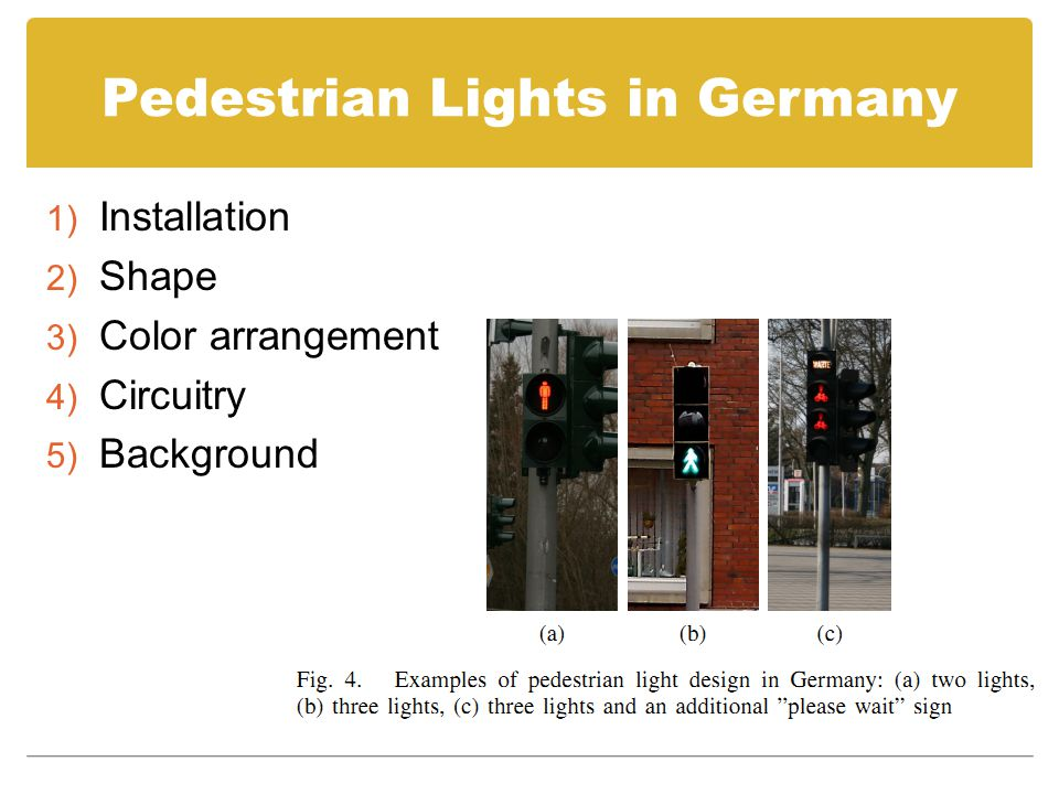 Pedestrian Lights in Germany