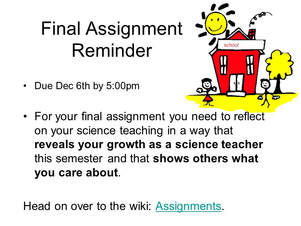 Agenda Final Assignment reminder Re-visiting Writing - ppt download