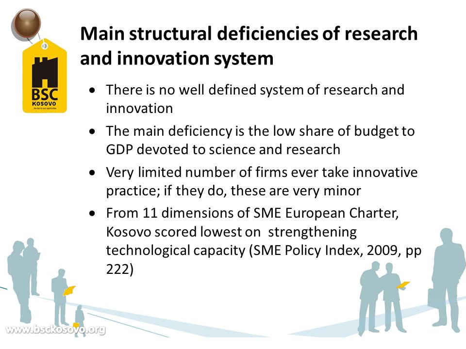 Main structural deficiencies of research and innovation system