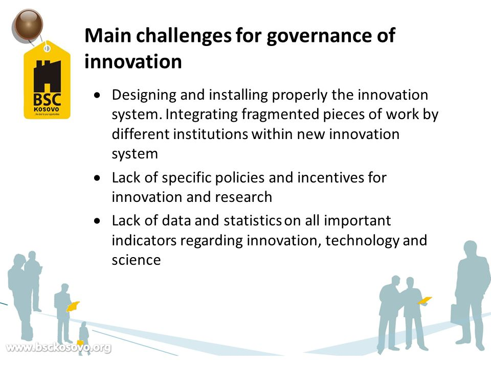Main challenges for governance of innovation