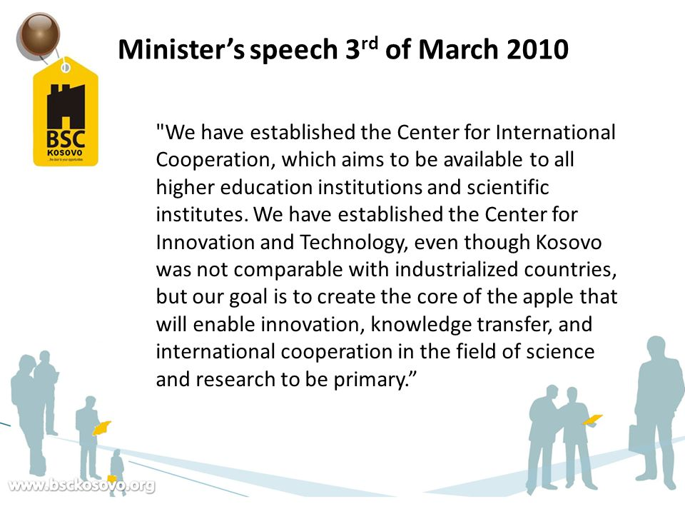 Minister's speech 3rd of March 2010