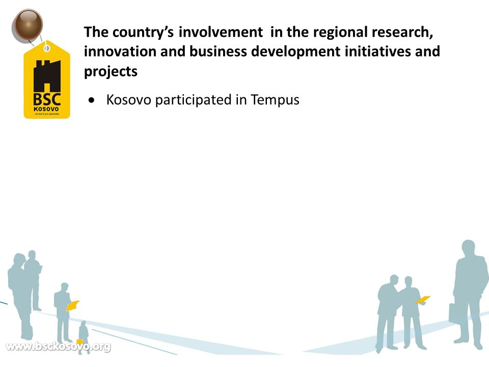 The country's involvement in the regional research, innovation and business development initiatives and projects