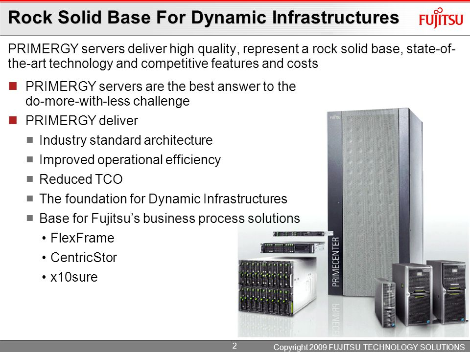 Servers for Dynamic Infrastructures