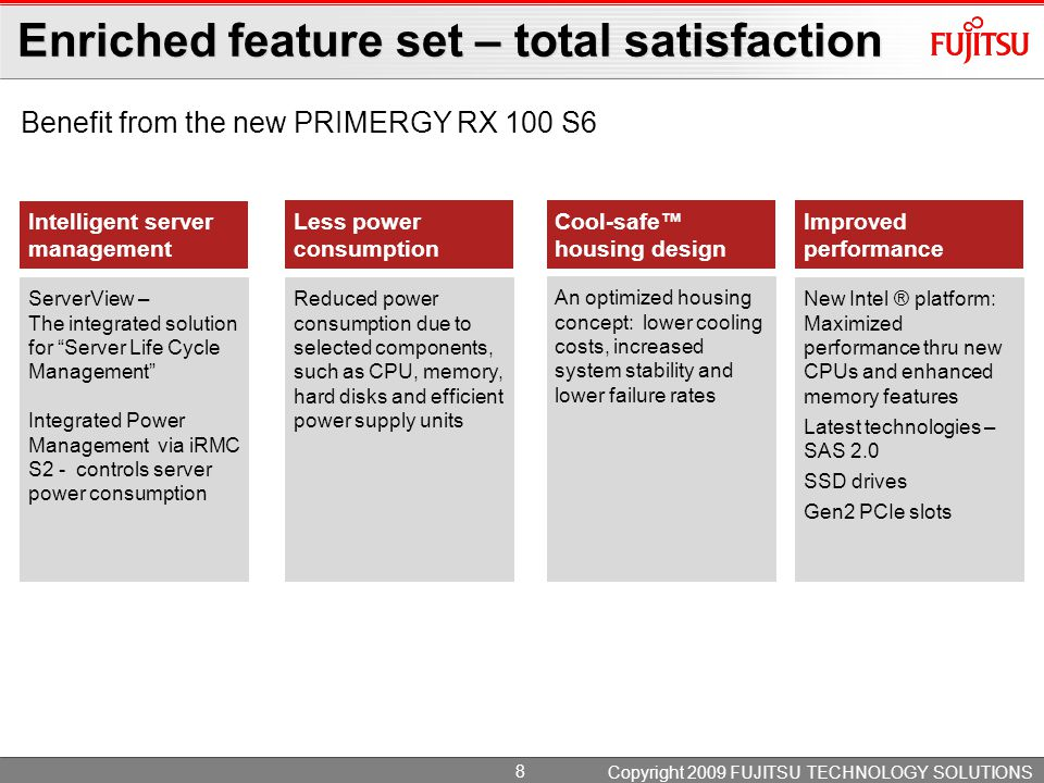 Enriched feature set – total satisfaction