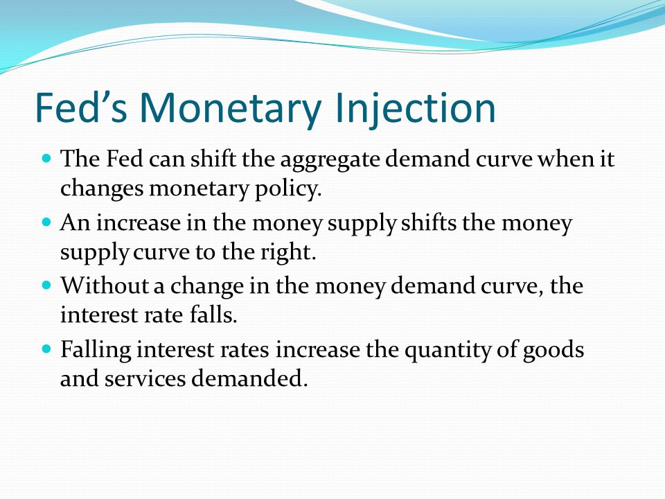 Fed's Monetary Injection