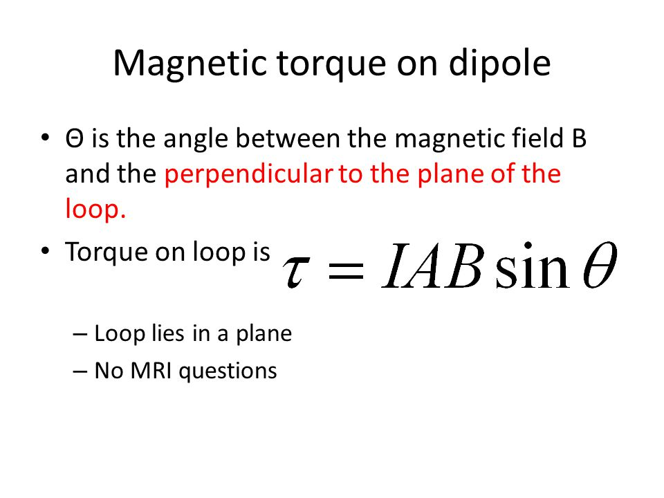Magnetic torque on dipole