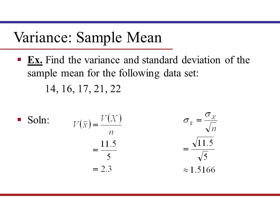 Variance Math 115b Mathematics for Business Decisions, part II ...