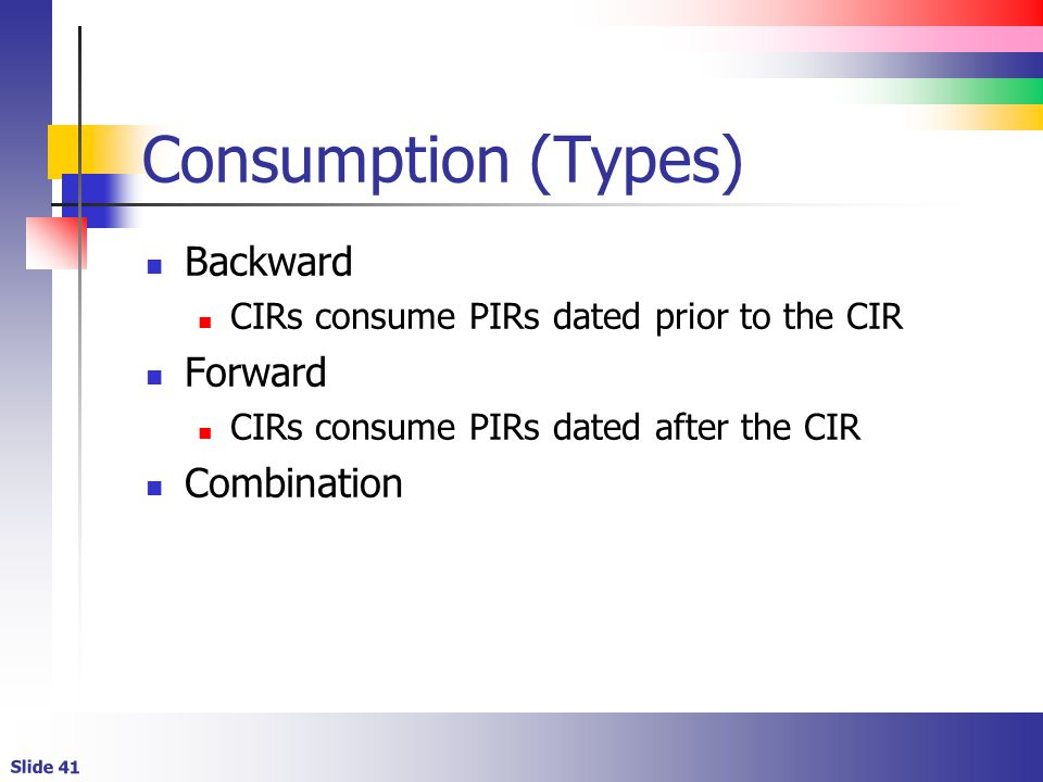 Consumption (Types) Backward Forward Combination