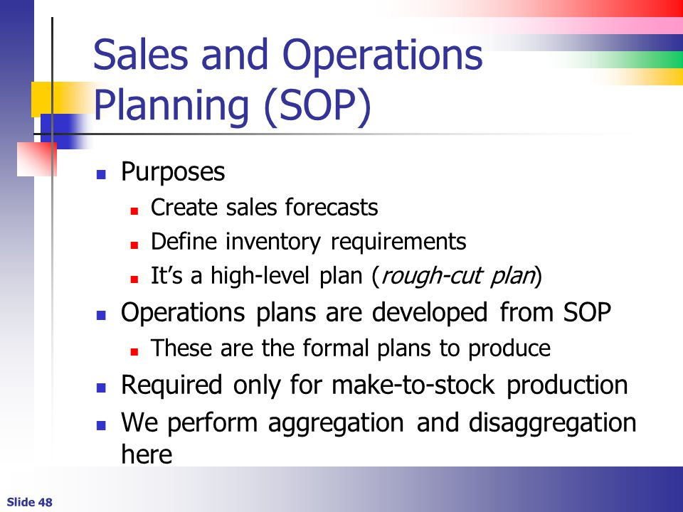 Sales and Operations Planning (SOP)