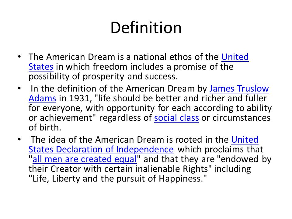 american dream is the ability to To the protagonist of death of a salesman, the american dream is the ability to become prosperous by mere charisma willy believes that personality, not hard work and innovation, is the key to success time and again, he wants to make sure his boys are well-liked and popular.