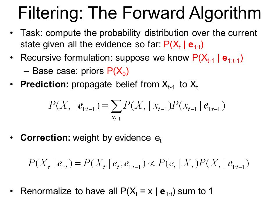 Filtering: The Forward Algorithm