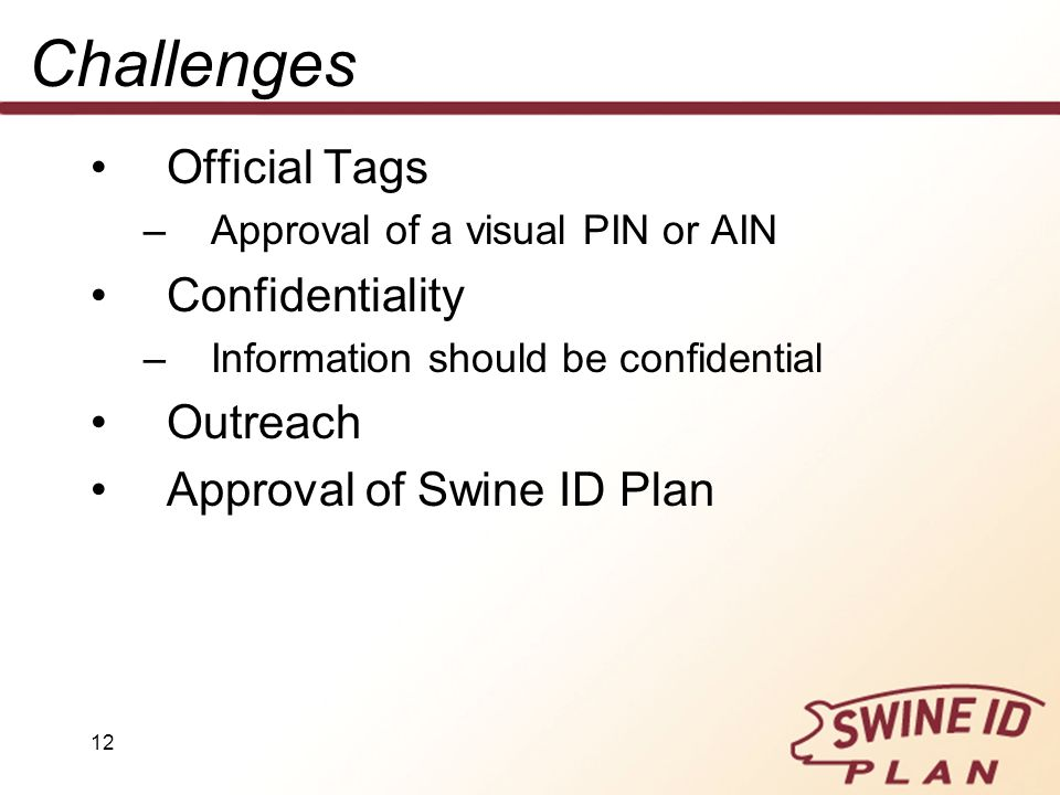 Challenges Official Tags Confidentiality Outreach